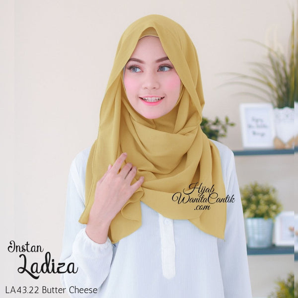 Pashmina Instan Ladiza - LA43.22 Butter Cheese
