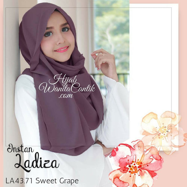 Pashmina Instan Ladiza - LA43.71 Sweet Grape