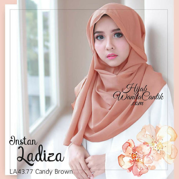 Pashmina Instan Ladiza - LA43.77 Candy Brown