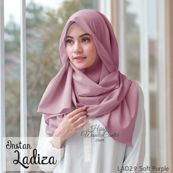 Pashmina Instan Ladiza - LAD2.9 Soft Purple