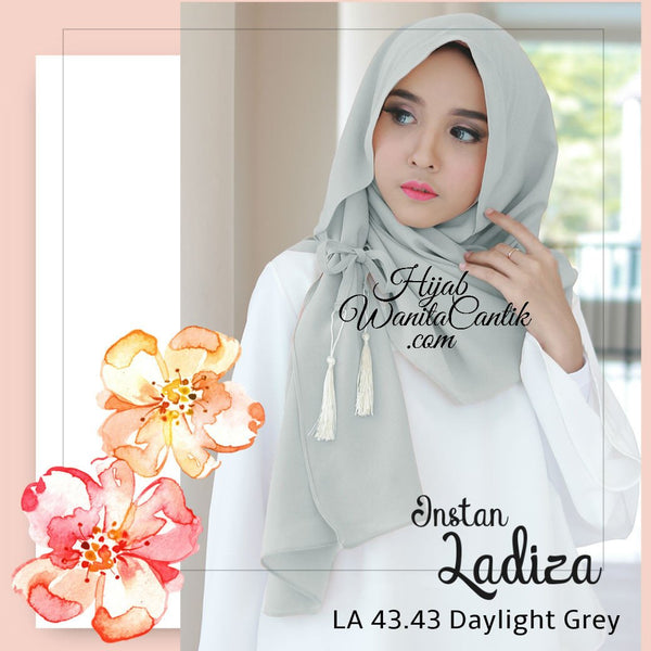 Pashmina Instan Ladiza - LA43.43 Daylight Grey