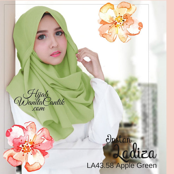 Pashmina Instan Ladiza - LA43.58 Apple Green