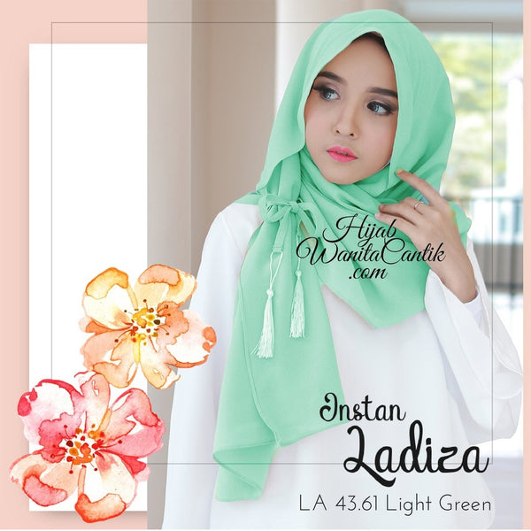 Pashmina Instan Ladiza - LA43.61 Light Green