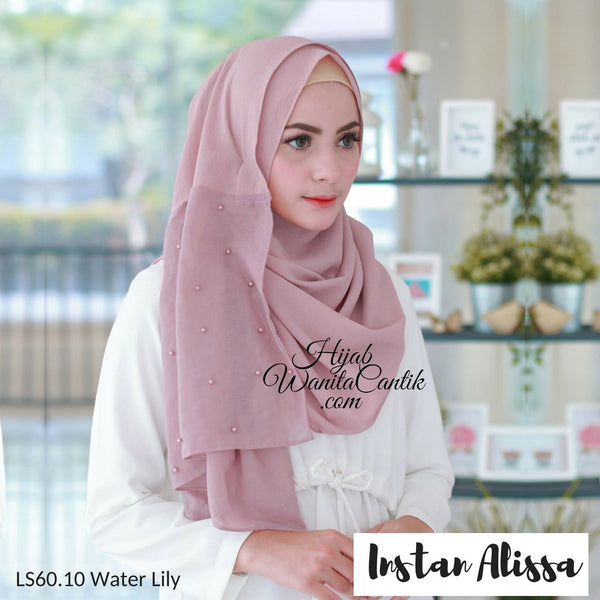Pashmina Instan Alissa - LS60.10 Water Lily
