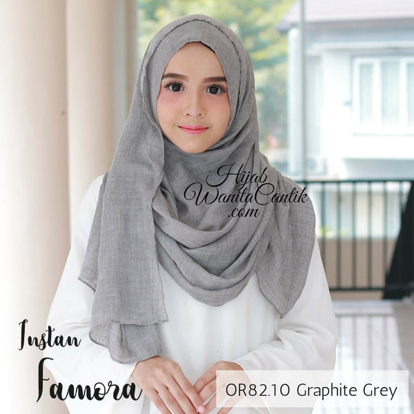 Pashmina Instan Famora - OR82.10 Graphite Grey