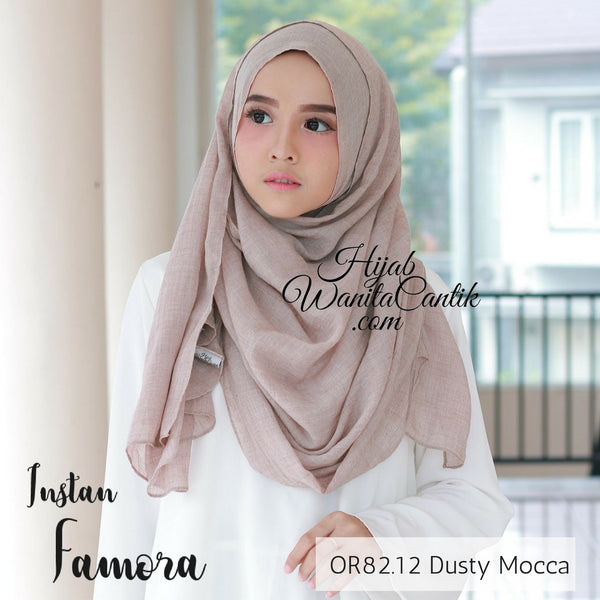 Pashmina Instan Famora - OR82.12 Dusty Mocca