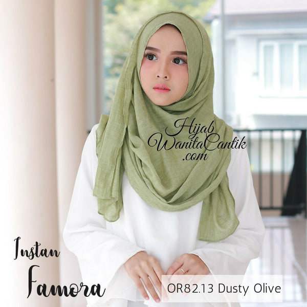 Pashmina Instan Famora - OR82.13 Dusty Olive