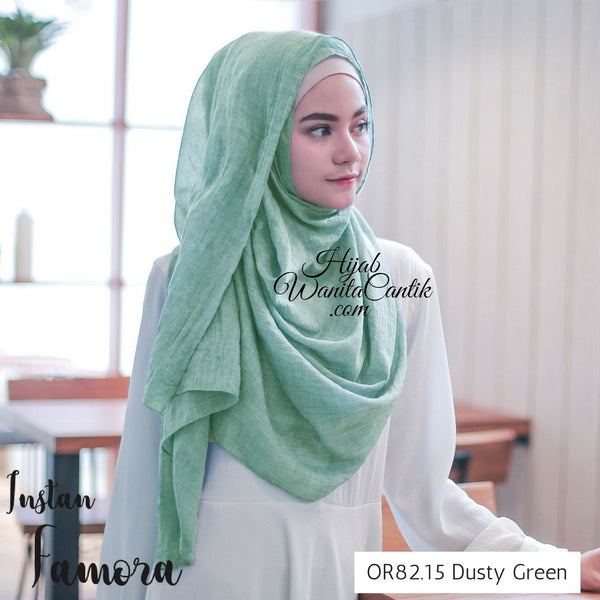 Pashmina Instan Famora - OR82.15 Dusty Green