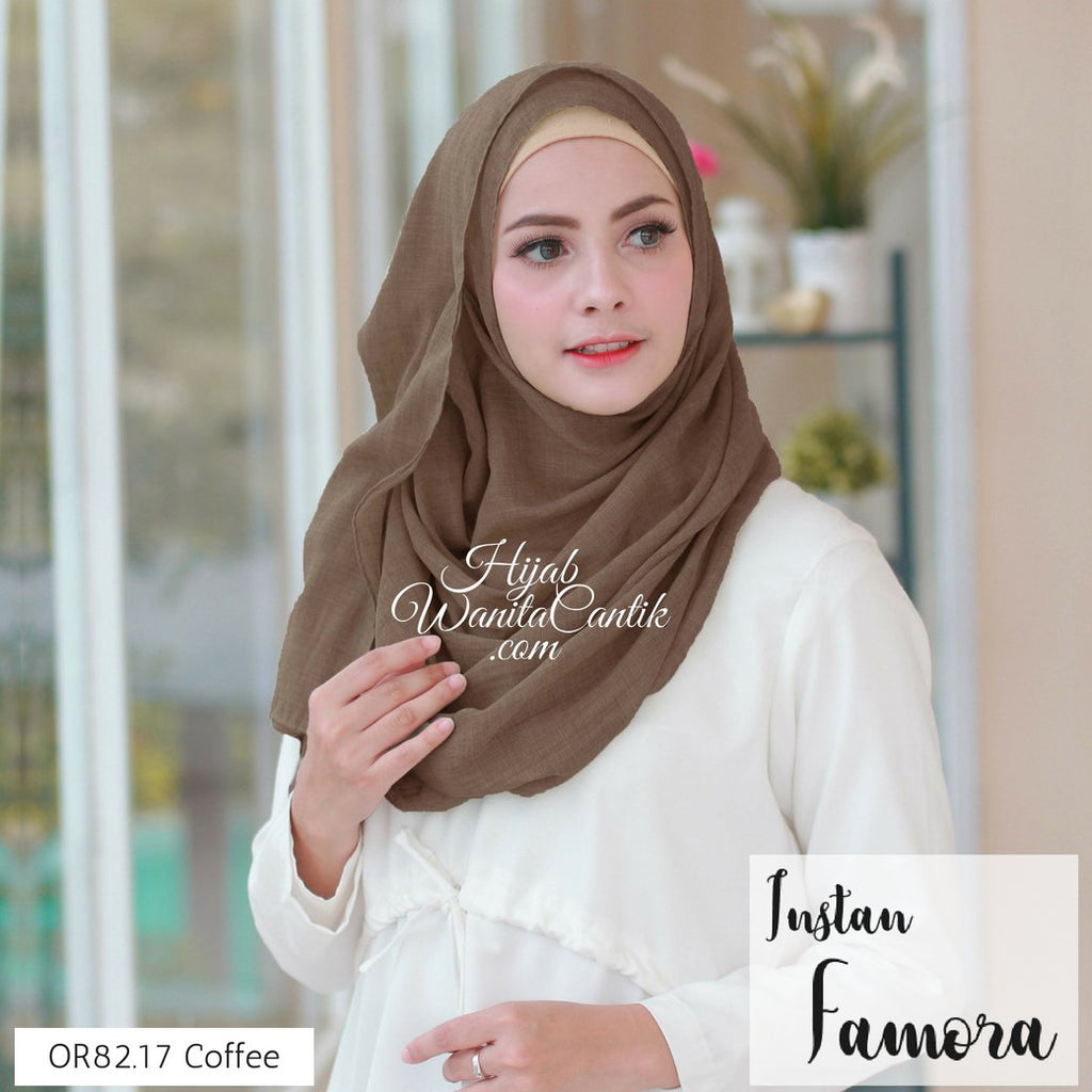Pashmina Instan Famora - OR82.17 Coffee