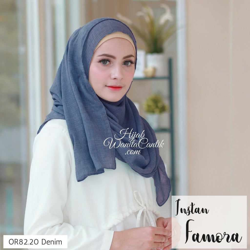 Pashmina Instan Famora - OR82.20 Denim