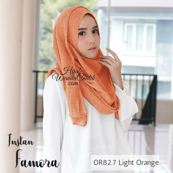 Pashmina Instan Famora - OR82.7 Light Orange