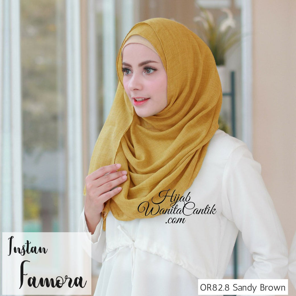 Pashmina Instan Famora - OR82.8 Sandy Brown