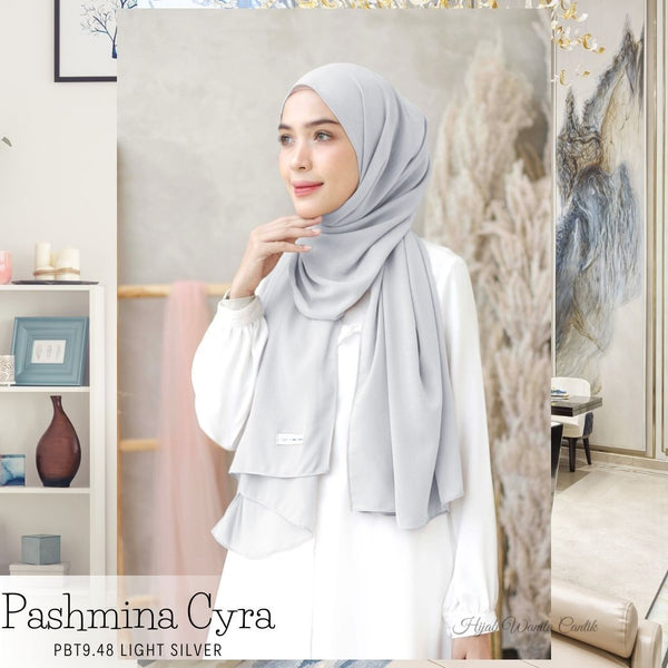 Pashmina Cyra - PBT9.48 Light Silver