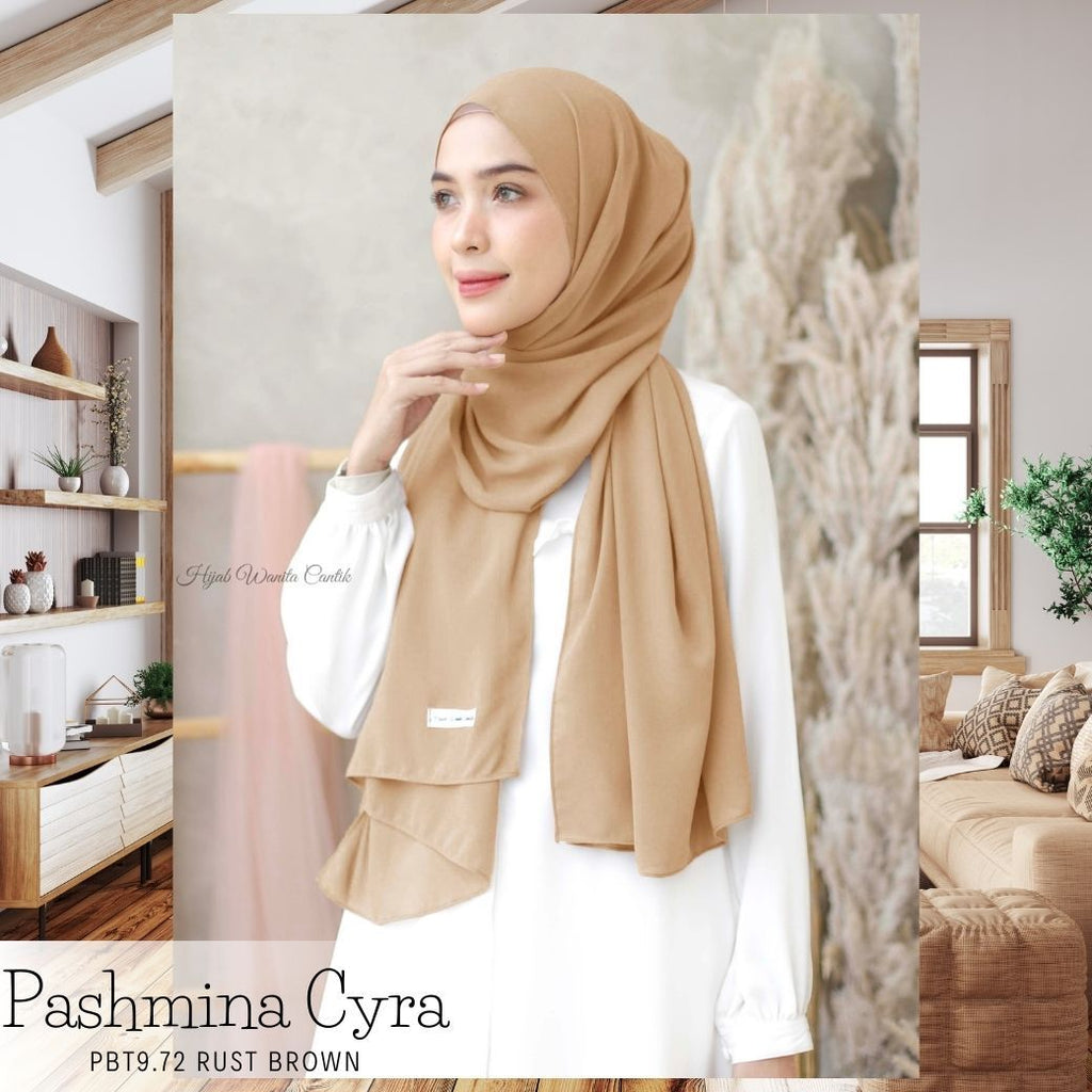 Pashmina Cyra - PBT9.72 Rust Brown