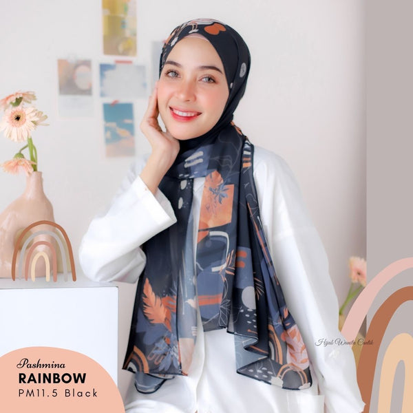 Pashmina Rainbow - PM11.5 Black