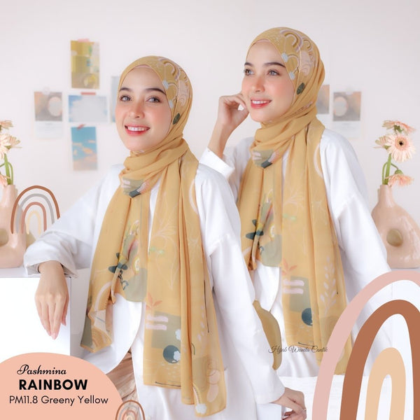 Pashmina Rainbow - PM11.8 Greeny Yellow