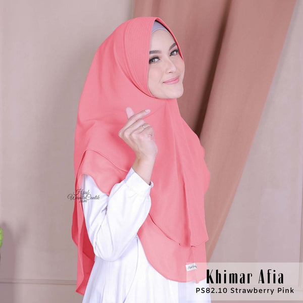 Khimar Afia - PS82.10 Strawberry Pink