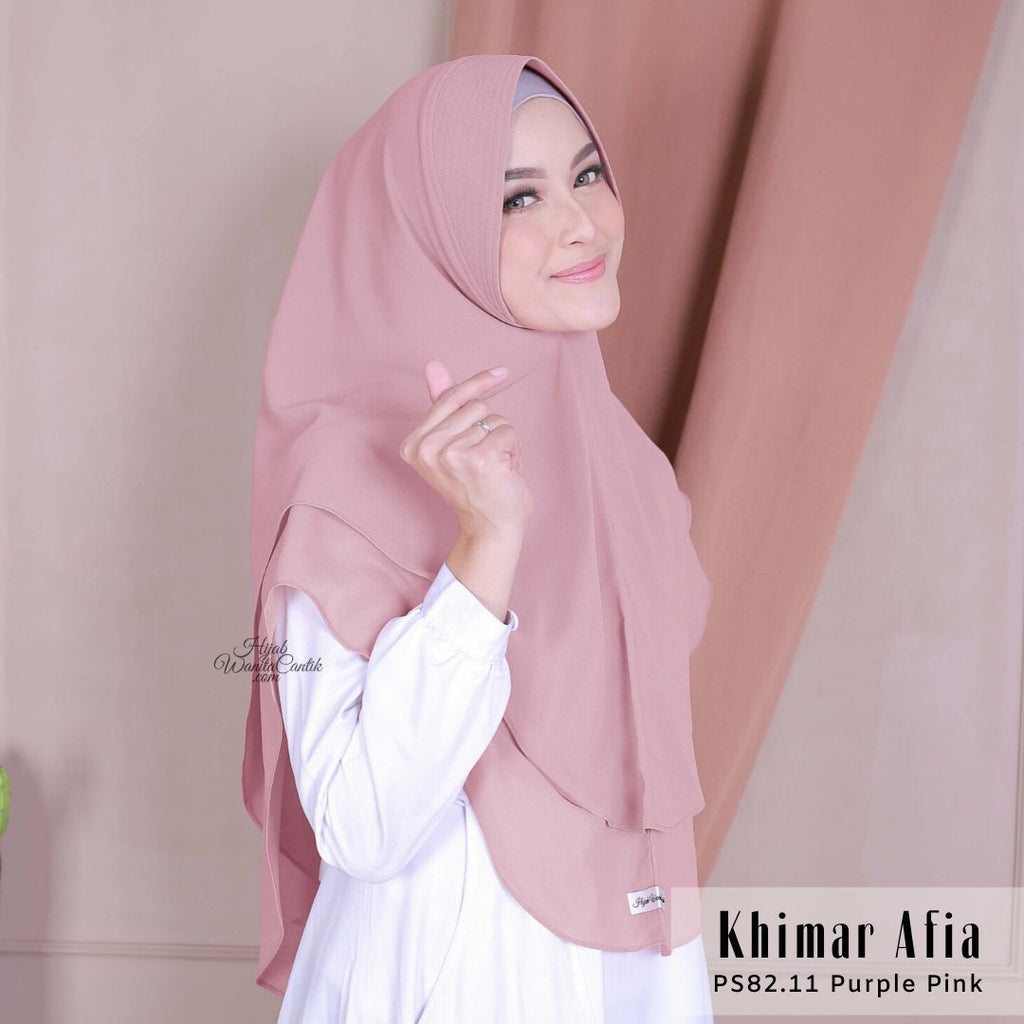 Khimar Afia - PS82.11 Purple Pink
