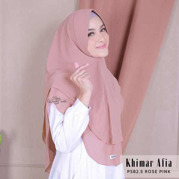 Khimar Afia - PS82.5 Rose Pink