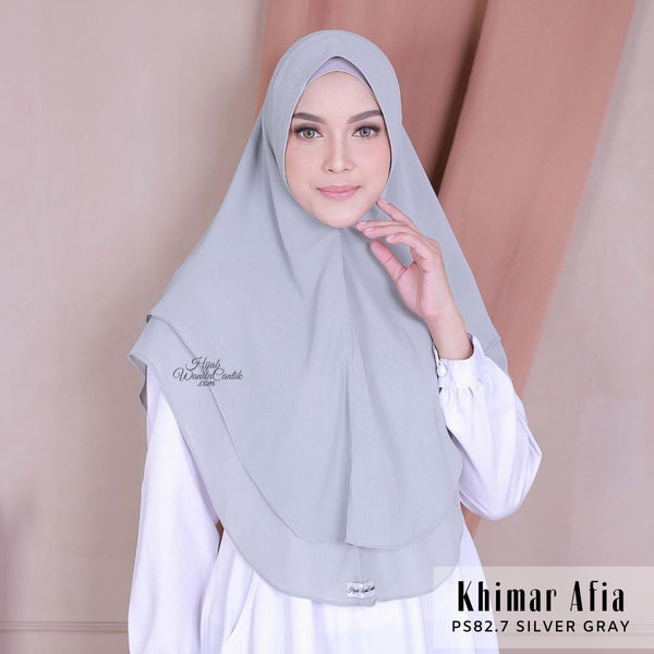 Khimar Afia - PS82.7 Silver Gray