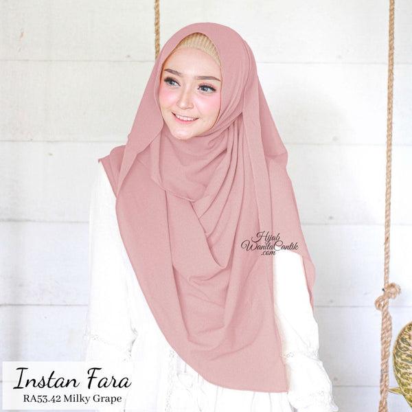 Pashmina Instan  Fara - RA53.42 Milky Grape