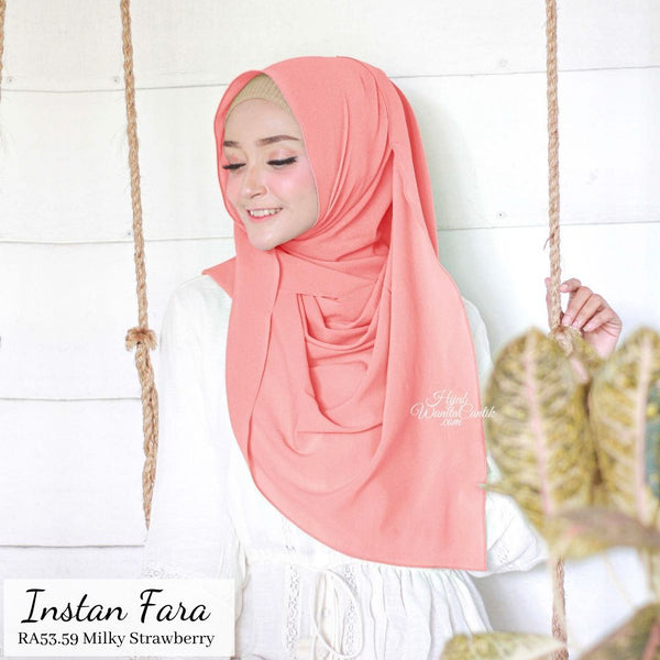 Pashmina Instan  Fara - RA53.59 Milky Strawberry