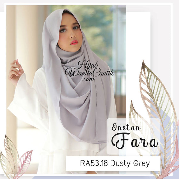 Pashmina Instan Fara - RA53.18 Dusty Grey