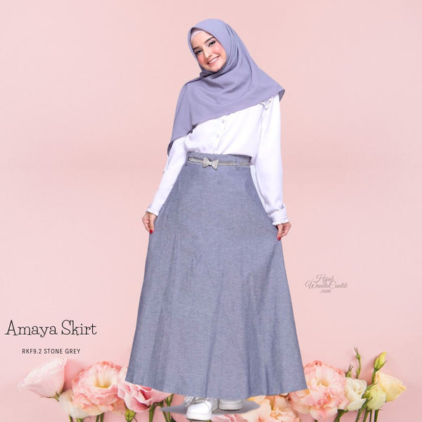 Amaya Skirt  - RKF9.2 Stone Grey