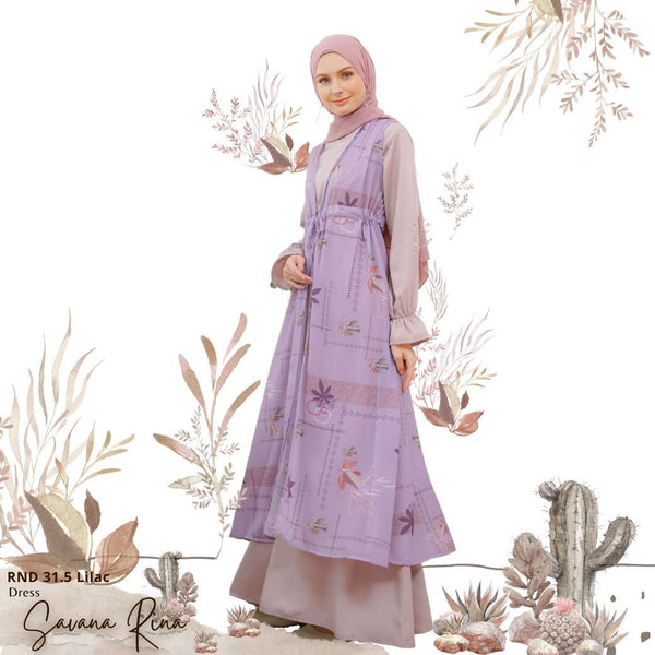 Savana Rina Dress - RND 31.5 Lilac