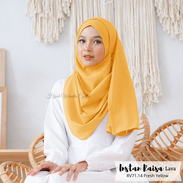 Pashmina Instan Raisa Lava - RV71.14 Fresh Yellow