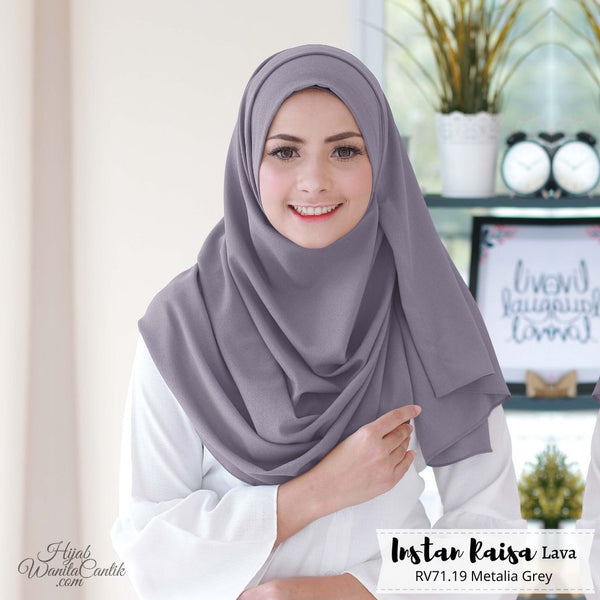 Pashmina Instan Raisa Lava - RV71.19 Metalia Grey