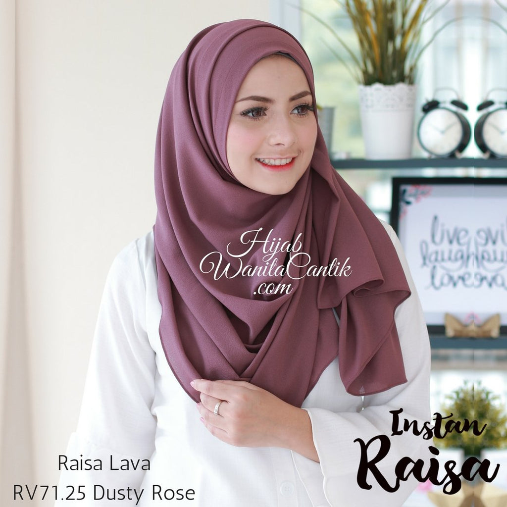 Pashmina Instan Raisa Lava - RV71.25 Dusty Rose