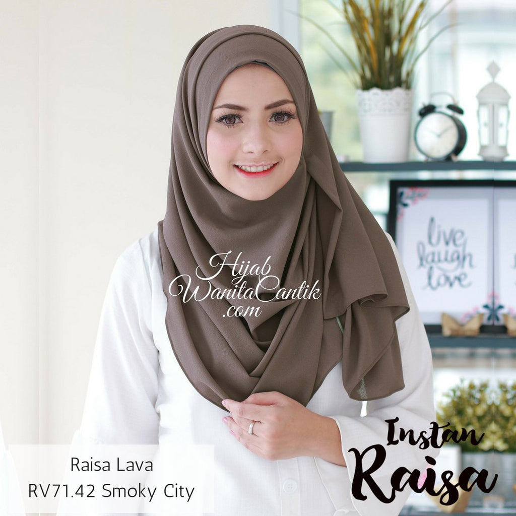 Pashmina Instan Raisa Lava - RV71.42 Smoky City
