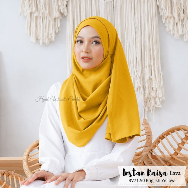 Pashmina Instan Raisa Lava - RV71.50 English Yellow