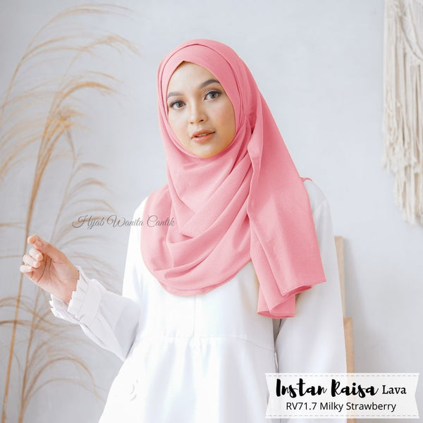 Pashmina Instan Raisa Lava - RV71.7 Milky Strawberry