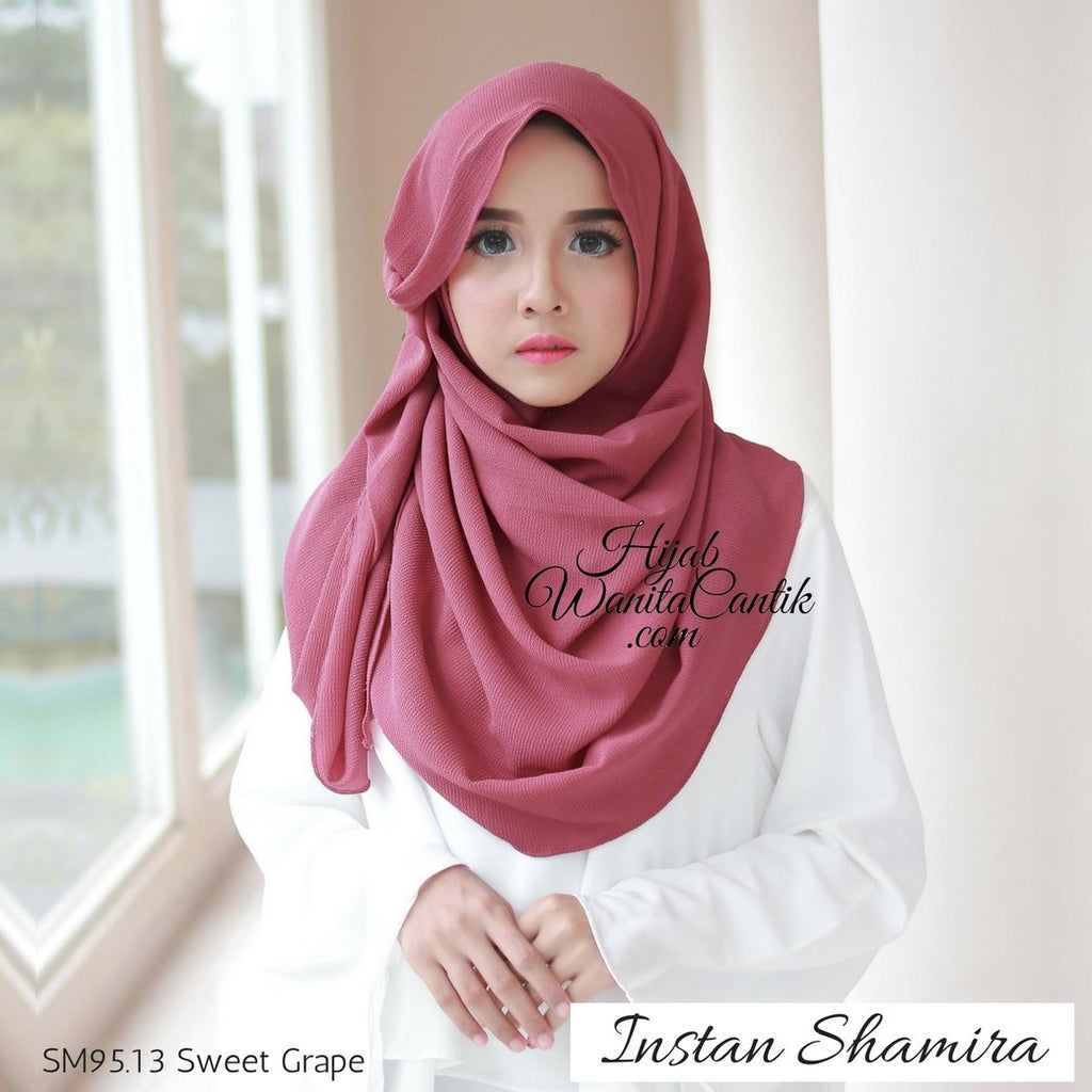 Pashmina Instan Shamira - SM95.13 Sweet Grape