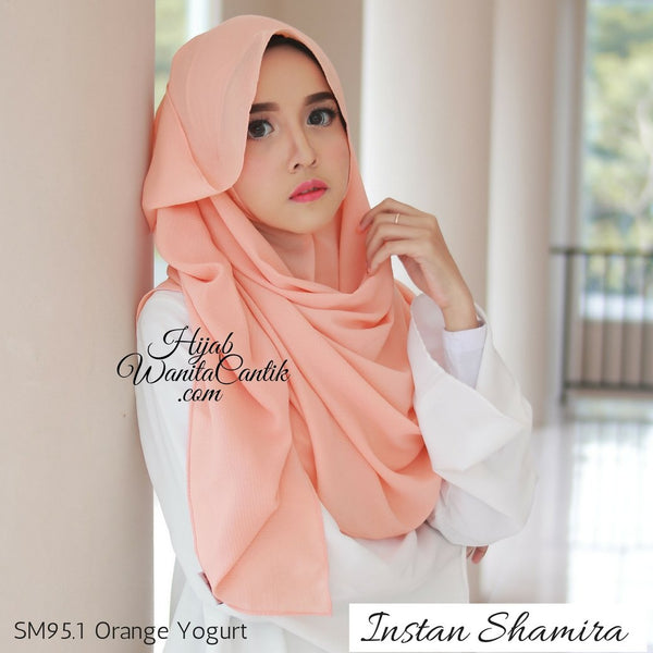 Pashmina Instan Shamira - SM95.1 Orange Yogurt