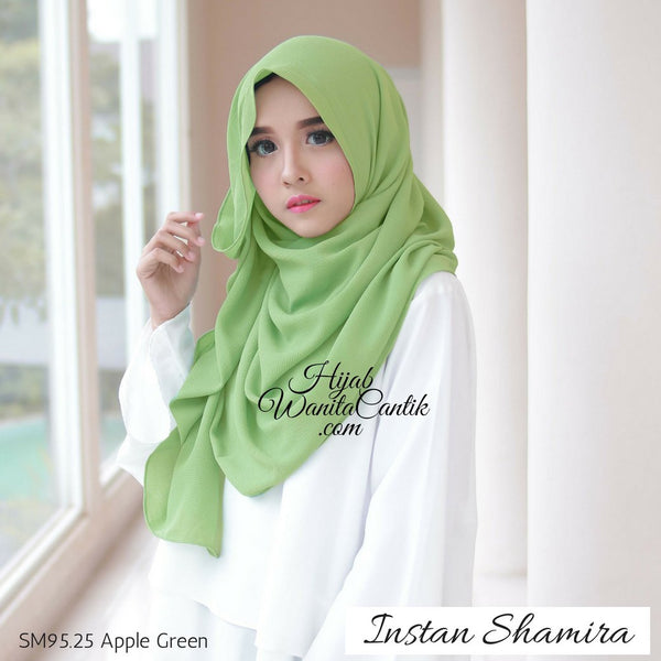 Pashmina Instan Shamira - SM95.25 Apple Green