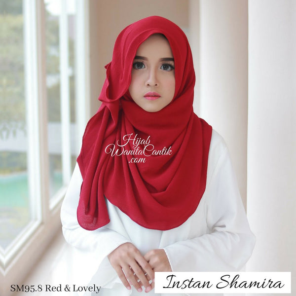 Pashmina Instan Shamira - SM95.8 Red & Lovely