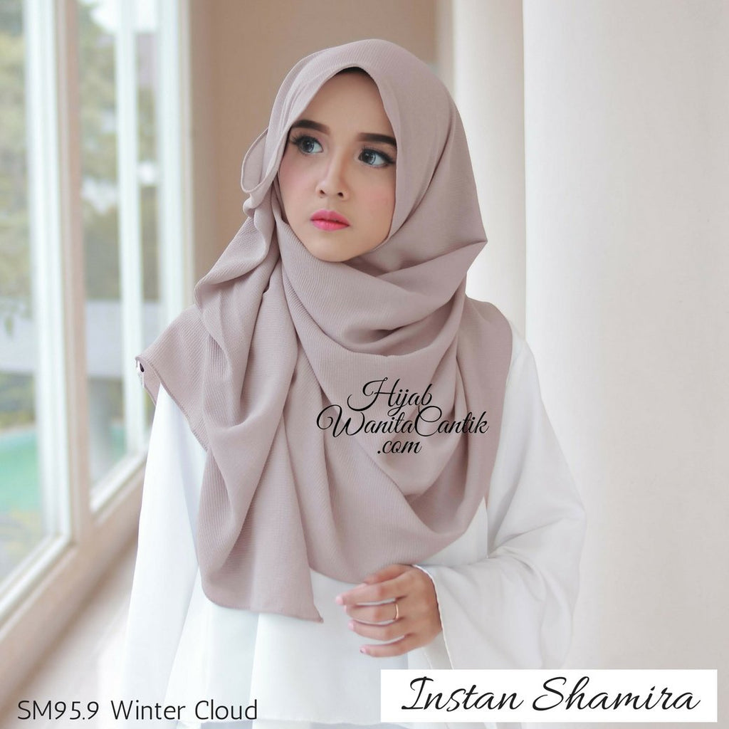 Pashmina Instan Shamira - SM95.9 Winter Cloud