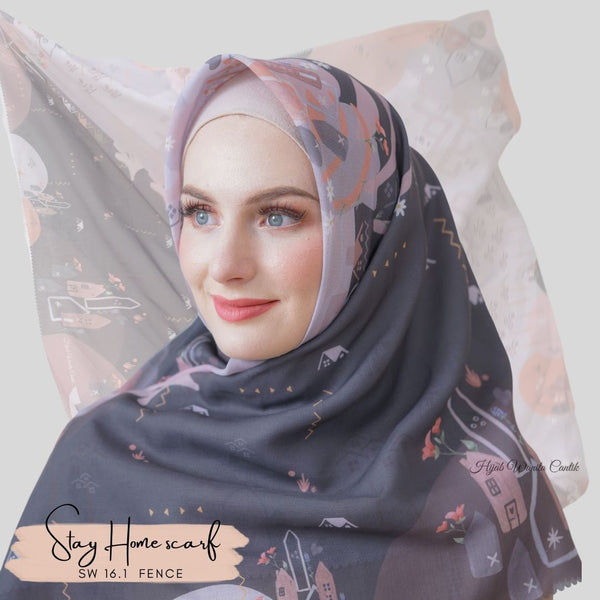 Segiempat Stay Home Scarf - SW16.1 Fence