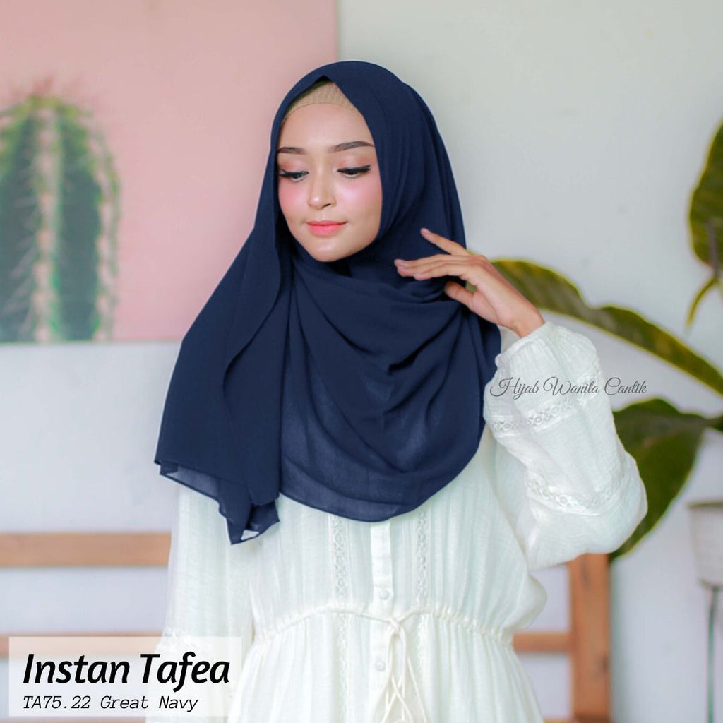 Pashmina Instan Tafea - TA75.22 Great Navy