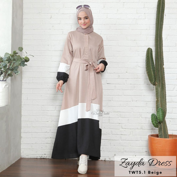 Zayda Dress - TWT5.1 Beige