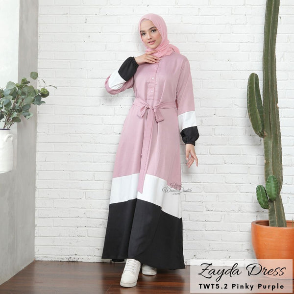 Zayda Dress - TWT5.2 Pinky Purple