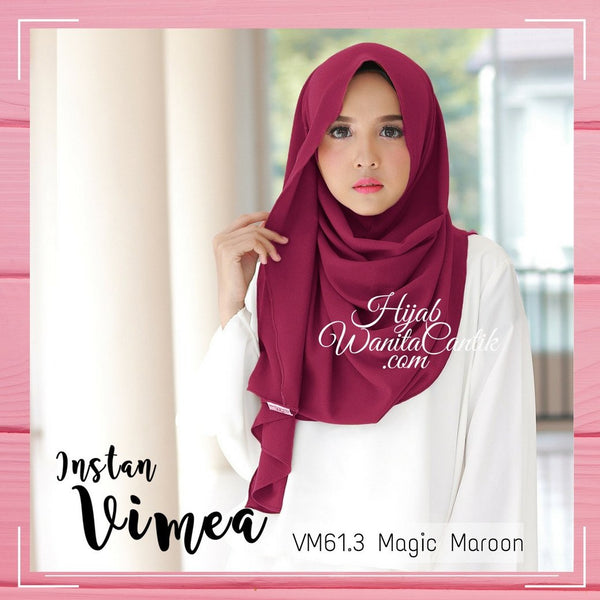 Pashmina Instan Vimea - VM61.3 Magic Maroon