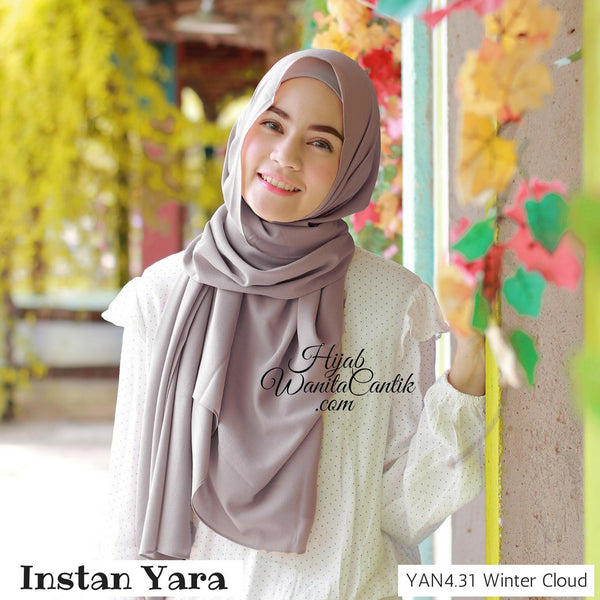 Pashmina Instan Yara- YAN4.31 Winter Cloud