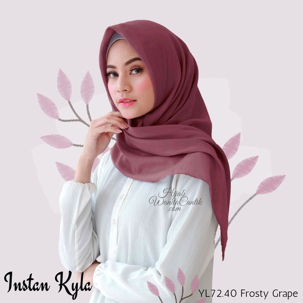 Instan Kyla Voal - YL72.40 Frosty Grape
