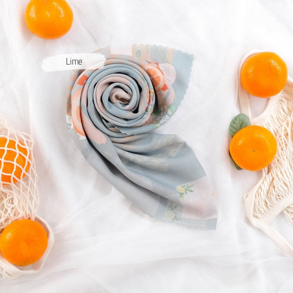 Segiempat Citrus Scarf - CR72.4 Lime