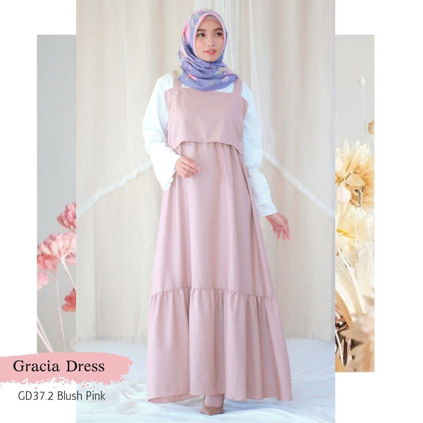 Gracia Dress - GD37.2 Blush Pink