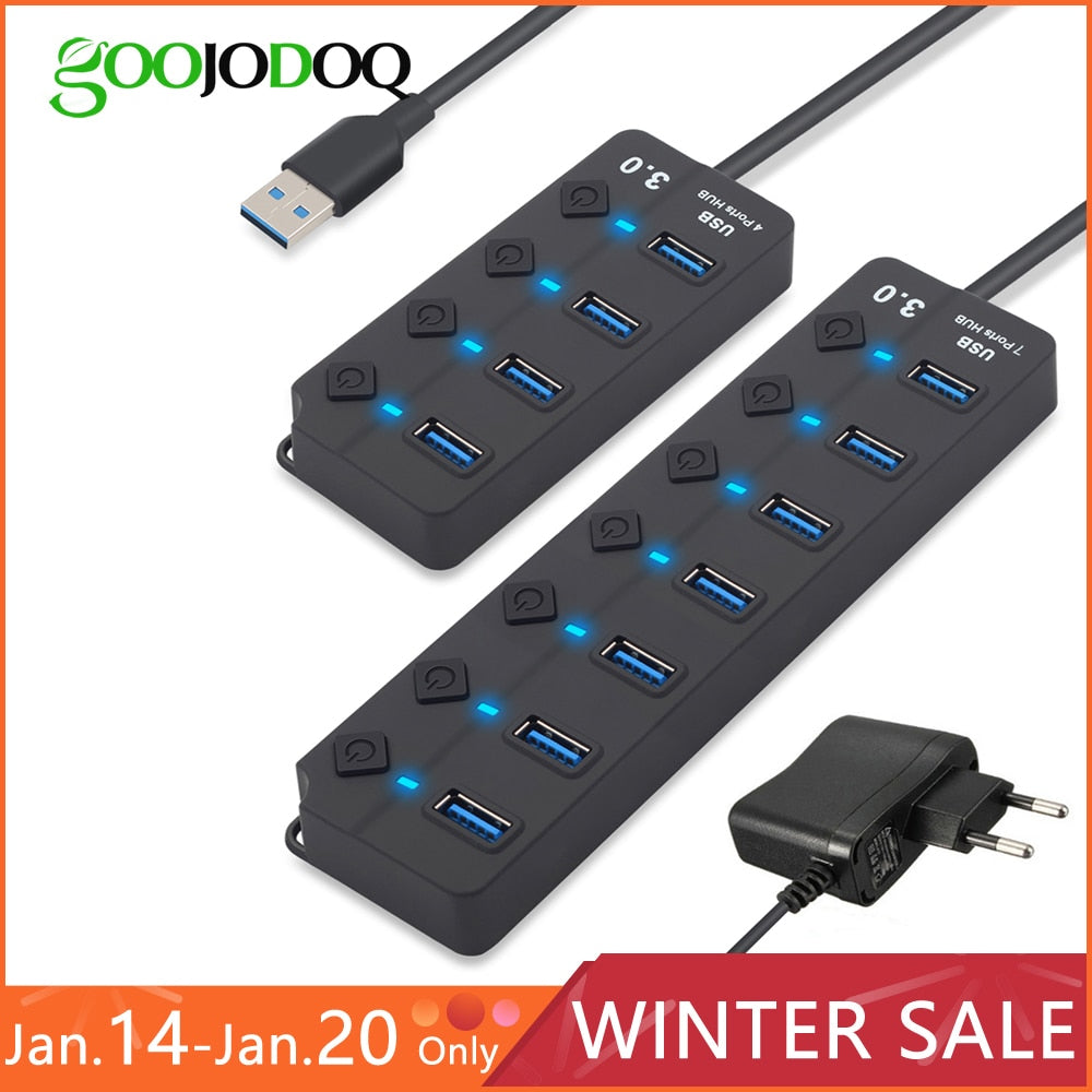 7 Ports USB 3.0 Hub - Touchfire Products
